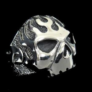 316L Stainless Steel Silver Skull H..