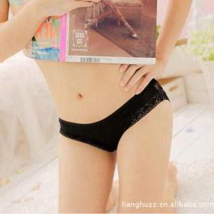 WOMEN SEXY LACE LINGERIE PANTIES T-..