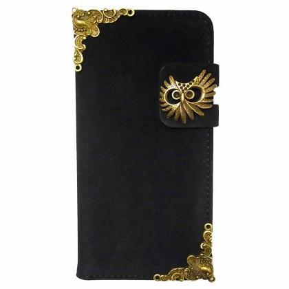 Owl iPhone 6 6s Wallet case,Vintage..