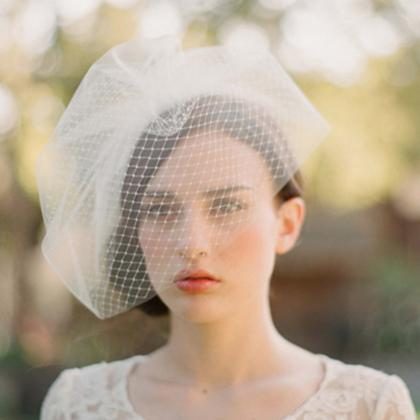 Wedding Bridal Ivory White Netting ..