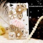 iPod Touch 4 Case, Ballet Girl iPod Touch 4 Case, Cute White iPod Touch 4th Case, Crystal iPod Touch 4 case, iPod Touch 4 gen Flowers Case