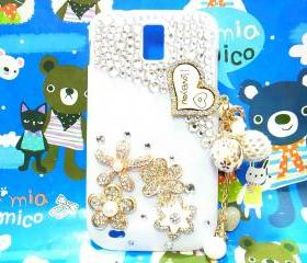 Crystal Flower Samsung T989 Hercules Galaxy S2 SII T-Mobile Case Charm I Love You,White Samsung Galaxy S2 T989 Case T-Mobile, t989 S2 case