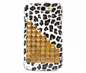 Bronze Pyramid Stud Samsung Galaxy Note 2 N7100 Case, Leopard Grey Samsung N7100 Case,Samsung Galaxy Note 2 II cover BL7P