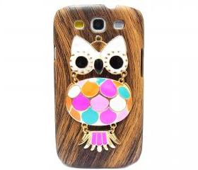 Wood Pattern Owl Samsung galaxy S3 case,Samsung i9300 T999 Galaxy S3 Case, Metal Owl Samsung i9300 T999 Galaxy S3 T-Mobile case A1