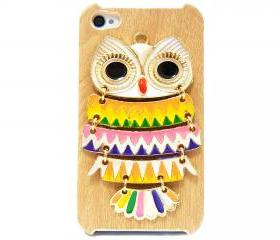 iphone 4 case, iphone 4G Case, iphone 4s case, Wood Pattern Plastic iphone 4 case, Owl iphone 4 Case, Owl iphone 4G Case LB A3