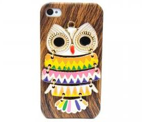 iphone 4 case, iphone 4G Case, iphone 4s case, Wood Pattern Plastic iphone 4 case, Owl iphone 4 Case, Owl iphone 4G Case BB A3