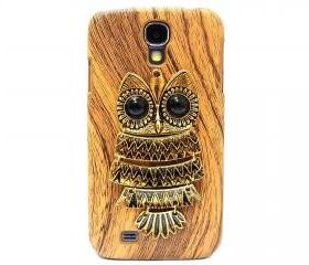 Samsung i9500 Galaxy S4 case, Samsung i9500 Galaxy S4 Metal Owl Case, Wood Pattern Hard Samsung i9500 Galaxy S4 Case Cover LB