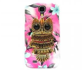 Samsung i9500 Galaxy S4 case, Metal Owl Samsung i9500 Galaxy S4 Case,Flower Pink Samsung i9500 Galaxy S4 Case,unique Samsung Galaxy S4 Case