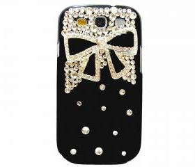 Samsung i9300 T999 Galaxy S3 T-Mobile Case,Bling Crystal Black Bow Samsung i9300 T999 Galaxy S3 T-mobile Case,Black Samsung Galaxy i9300 T999 S3 Case