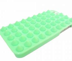 Studded iphone 5 case, iphone 5G case, Spike iphone 5 Punk case, iphone 5G Green Stud Case, Green iphone 5 Case, Plastic iphone 5G Case