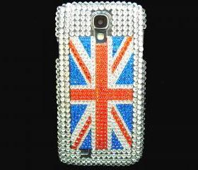 Samsung i9500 Galaxy S4 case, Crystal UK Flag Samsung i9500 Galaxy S4 Case,Bling Crystal British Flag Samsung i9500 Galaxy S4 Case