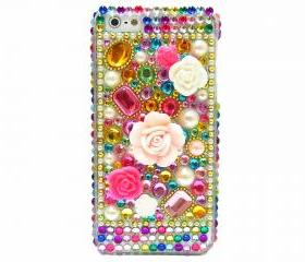 iPhone 5 case, iPhone 5 Case,iPhone 5G case,Floral iPhone 5 Cases, Bling iphone 5 case, Cute iphone 5 case, iPhone 5 bling case, Crystal Flower iphone 5 Case, Pearl iphone 5 Case
