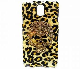 Samsung N9000 Galaxy Note 3 case ,Skull Bling Velvet Leopard Gold Samsung N9000 Galaxy Note 3 Case,Bronze Samsung N9000 Galaxy Note 3 Case