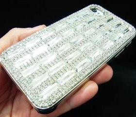 iphone 4 case, iphone 4G case,iphone 4S Case,Bling Crystal Shine Silver iphone 4 case,Crystal Metal iphone 4S Case Cover, iphone 4 Skin case