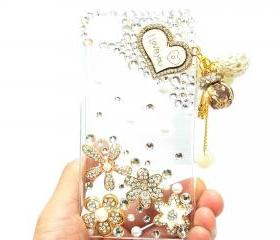 Bling Crystal Love u Charm blackberry Z10 Case,Clear Blackberry Z10 Case Cover,Blackberry Z10 Case, Heart Crystal Pearl Blackberry z10 Case