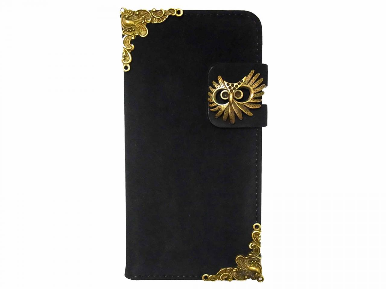 Owl iPhone 6 6s Wallet case,Vintage Velvet iphone 6 4.7 leather case,iphone 6 6s Flip Case,Victorian Vintage Velvet Owl iPhone 6 6s PLUS leather wallet case cover A2 Black