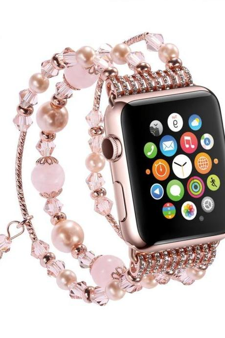 Pearl Beads Bracelet Watch Band Strap for Apple Watch iWatch Series 1 2 42/38mm