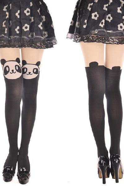 Panda Pantyhose leggings, Sexy pantyhose, Sexy legging, Panda Leggings,Tattoo Pantyhose, Panda Tights Stockings, Cute Panda Pantyhose Leggings