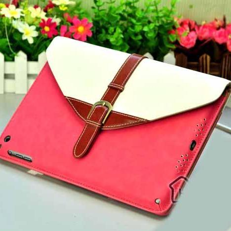 IPad 2 Case, iPad 3 case, iPad 4 Case, iPad 2 3 4 Smart Stand leather Case Cover, Belt iPad 2 3 4 Flip Leather Case Cover, iPad wallet Leather case cover