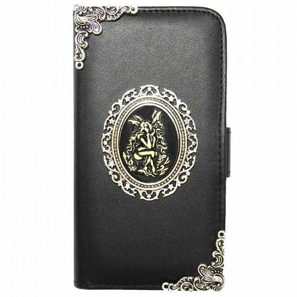 Skull Lady iPhone 6 6s Wallet case,Vintage iphone 6 6s 4.7 leather case,iphone 6 Flip Case,Victorian Vintage Skull Lady iPhone 6 6s PLUS leather wallet case cover A5 Black